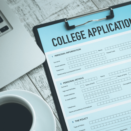 college admissions form
