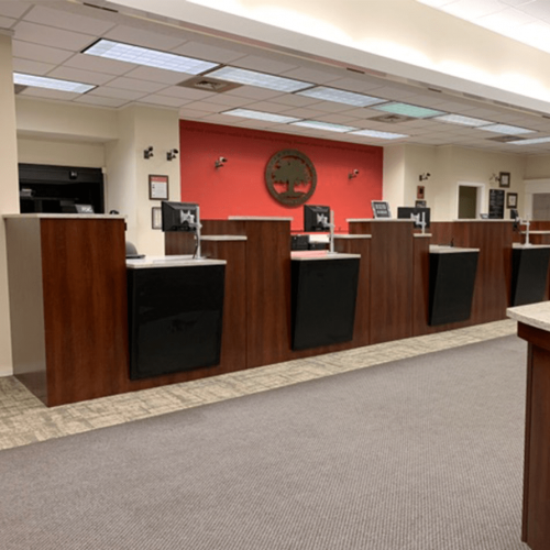 millwork in bank