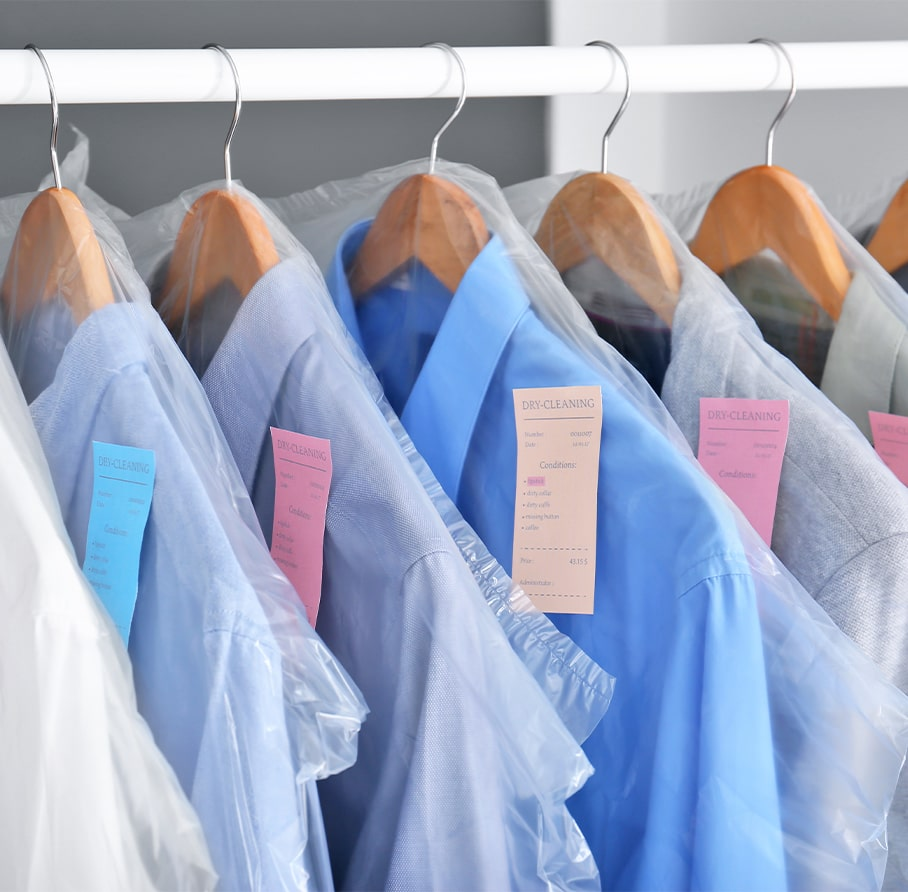 shirts in a dry cleaning business for sale