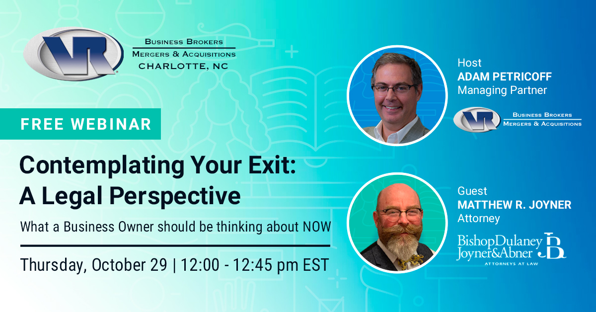 Contemplating Your Exit: A Legal Perspective Webinar